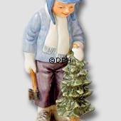 Annual Figurine 2002, Boy with Christmas Tree, Royal Copenhagen