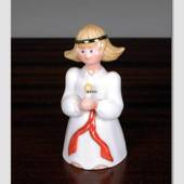 Lene Lucia Girl with Candle, Royal Copenhagen figurine