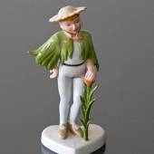 Flower Boy Dressed up Children, Royal Copenhagen figurine