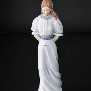 Lady Walking with Hat Behind Her, Royal Copenhagen figurine in the series S...