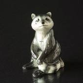 Racoon sitting, Royal Copenhagen figurine