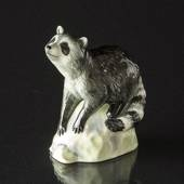 Racoon on Rock looking up, Royal Copenhagen figurine