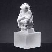 White Chimpanzee, Royal Copenhagen monkey figurine