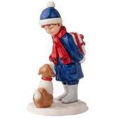 Annual Figurine 2003, Boy with Dog, Royal Copenhagen