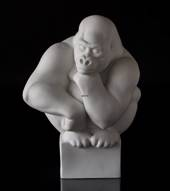 Large white Gorilla , Royal Copenhagen monkey figurine