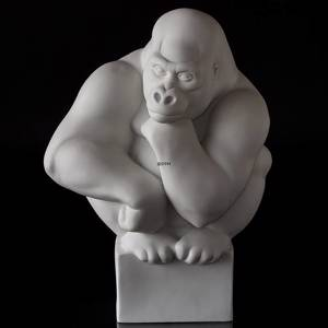 Large white Gorilla , Royal Copenhagen monkey figurine | No. 1249083 | DPH Trading