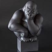 Large black Gorilla Royal Copenhagen monkey figurine