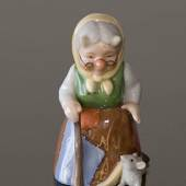 Troll Grandmother with mouse, Royal Copenhagen figurine