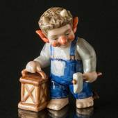 Troll, Father with lamp, Royal Copenhagen figurine