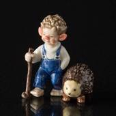 Troll, Big Brother with Hedgehog, Royal Copenhagen figurine