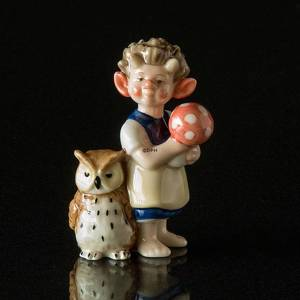 Troll, Big Sister with Owl, Royal Copenhagen figurine