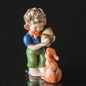Troll, Little Brother with squirrel/rabbit, Royal Copenhagen figurine