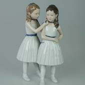 Two ballarinas standing, Ballerina, Royal Copenhagen figurine