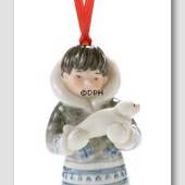 The Children's Christmas 2005, Figurine Ornament, Inuit with seal