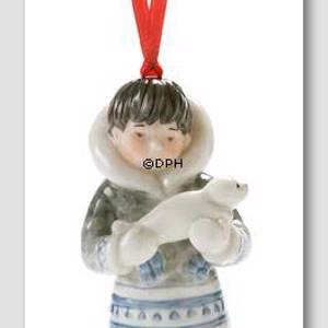 The Childrens Christmas 2005, Figurine Ornament, Inuit with seal | Year 2005 | No. 1249153 | DPH Trading