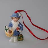 Figurine Ornament 2005, Girl with presents, Bing & Grondahl