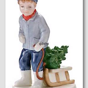 Annual Figurine 2005, Peter with sledge, Royal Copenhagen | Year 2005 | No. 1249160 | DPH Trading