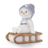 Winter series 2005 snowman, baby Arthur, Royal Copenhagen