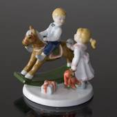 Clara & Peter with Rocking horse, Royal Copenhagen figurine
