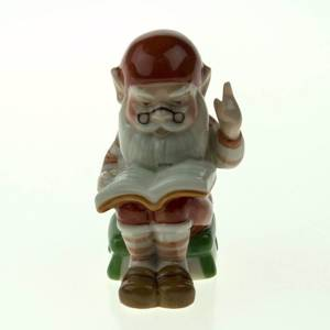 Pixie with Book, Royal Copenhagen Christmas figurine
