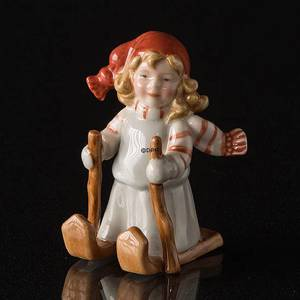 Pixie skiing, Royal Copenhagen Christmas figurine | No. 1249179 | DPH Trading