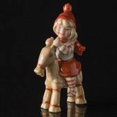 Pixie with billy goat, Royal Copenhagen Christmas figurine