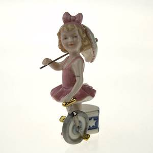 Tightrope Walker With Bike, Royal Copenhagen figurine from the Mini Circus collection series | No. 1249204 | DPH Trading