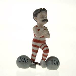 The Little Strong Man, Royal Copenhagen figurine from the Mini Circus colle...