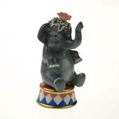 Circus Elephant, Royal Copenhagen figurine from the Mini Circus collec...