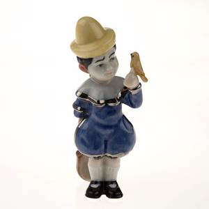 Clown With Guitar, Royal Copenhagen figurine from the Mini Circus collectio...