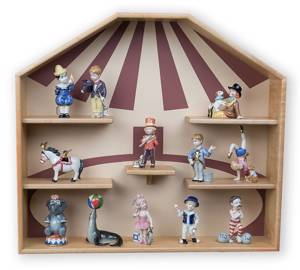 Mini Circus Collection from Royal Copenhagen, Display case