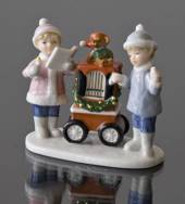 Clara & Peter with barrel organ, Royal Copenhagen figurine