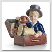 The Flying Trunk Hans Christian Andersen figurine, Royal Copenhagen