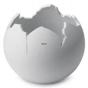White Globe bowl, large, Royal Copenhagen | No. 1249234 | DPH Trading