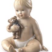 Baby with Teddy, Royal Copenhagen figurine