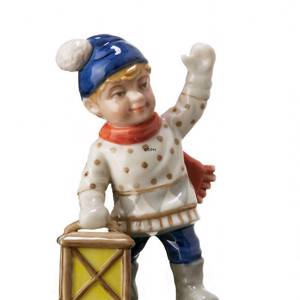 Boy with lantern, Mini Summer and Winter Children, Royal Copenhagen figurine | No. 1249260 | DPH Trading