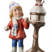 Girl at bird table, Mini Summer and Winter Children, Royal Copenhagen figur...