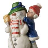 Girl with snowman, Mini Summer and Winter Children, Royal Copenhagen figuri...