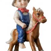 Boy on rocking horse, Mini Summer and Winter Children, Royal Copenhagen fig...