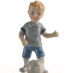 Boy playing soccer, Mini Summer and Winter Children, Royal Copenhagen figurine | No. 1249268 | DPH Trading