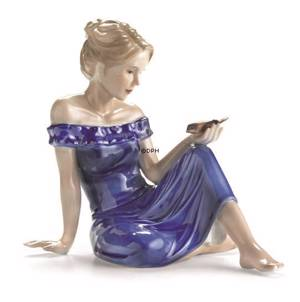 Young Lady with Bird, Royal Copenhagen figurine