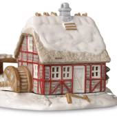 Tealight cottage, watermill, Royal Copenhagen candle holder