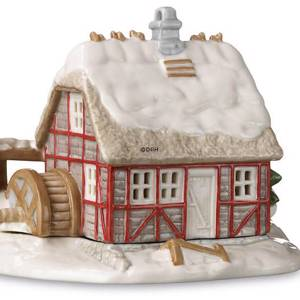 Tealight cottage, watermill, Royal Copenhagen candle holder | No. 1249283 | DPH Trading