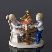 Clara & Peter decorating the nativity scene, Royal Copenhagen figurine