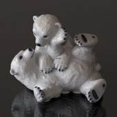 Polar Bear Cubs playing, Royal Copenhagen figurine