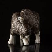 Two Musk ox calves playing, Royal Copenhagen figurine