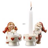Royal Copenhagen candlesticks with pixies