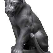 Black Lion sculpture, Royal Copenhagen figurine