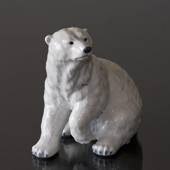Polar Bear sitting, Royal Copenhagen figurine