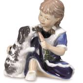 Girl with rabbit, Royal Copenhagen figurine